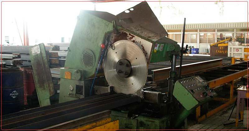 Máquina de Corte de Vigas de Acero - Hierros Tolón